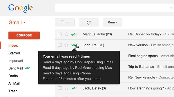 MailTrack, double check for Gmail, you already have Firefox extension